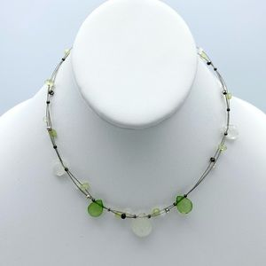 FREE w/Purchase Green Floating Beaded Collar Nckl